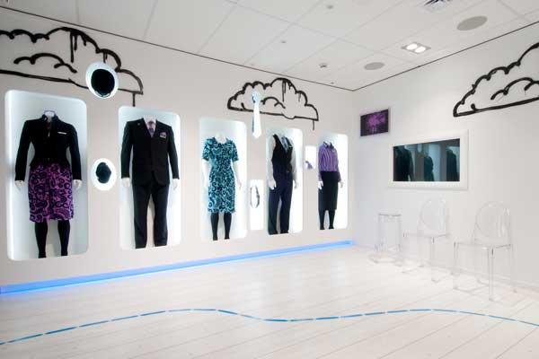 CLOTHES HANGAR store Air New Zealand Gascoigne Associates