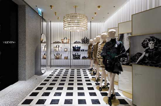 VALENTINO concept retail David Chipperfield