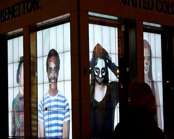 Benetton Live Windows digital signage