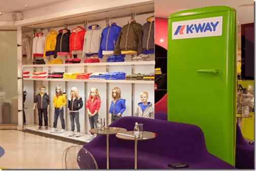 K-WAY corner shop Mosca