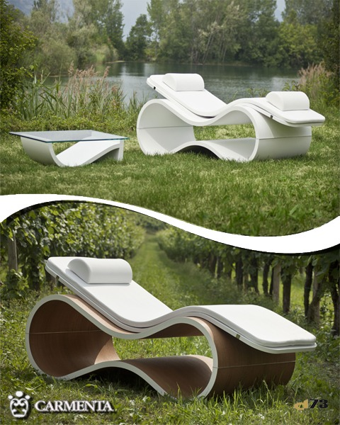 CARMENTA chaise longue White Mamba