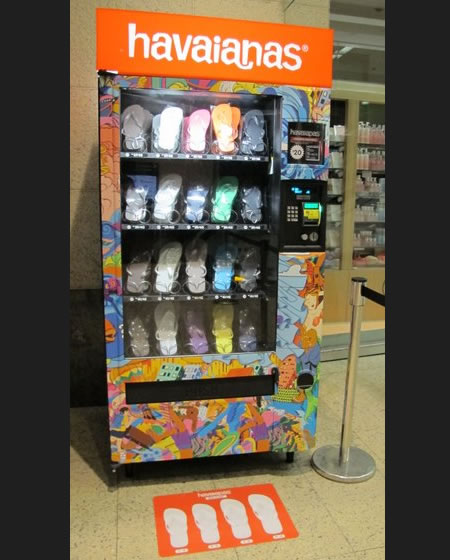 HAVAJANAS vending machine