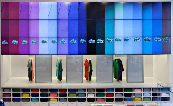 Lacoste Flagship Store Video Walls New York