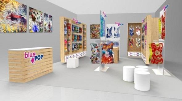 BLUE POP temporary shop temporary store Area B negozio temporaneo