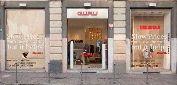 store monomarca GURU Milano