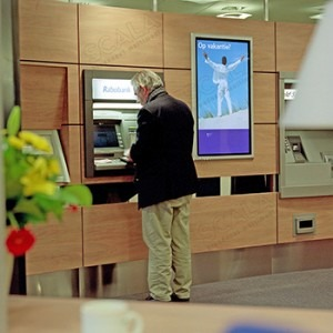 banking digital signage M-cube