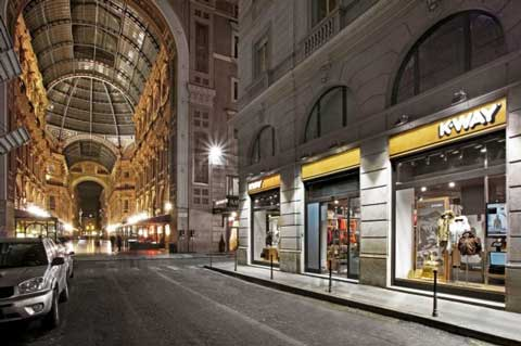 K-WAY negozio monomarca Milano