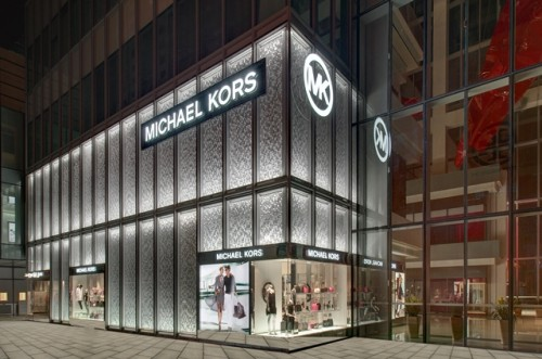 Luxury American brand Michael Kors has introduced its new store facade  concept for its first flagship in China 84f8c523b42
