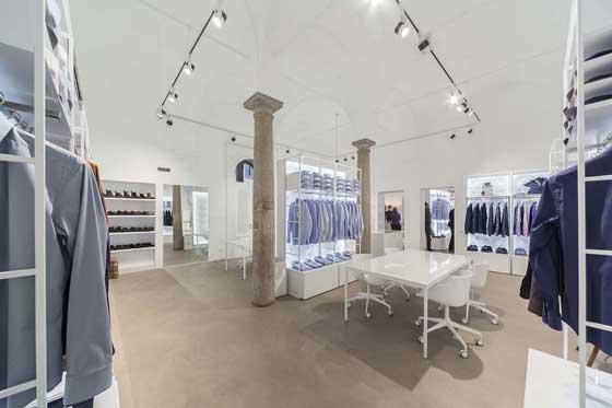 Xacus showroom milano - progetto architetto flavio albanese