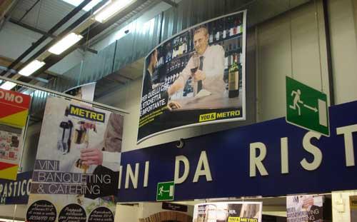 Pasolini Metro Italia communication in store
