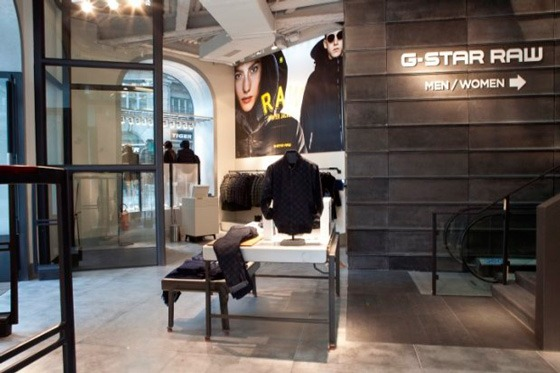 g star flagship store milano retail design
