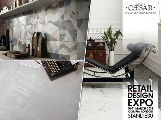 gres porcellanato Ceramiche Caesar Retail design Expo