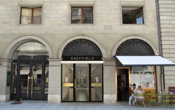 Zordan rinnova la gioielleria Sheffield all'interno del centro storico di Ginevra