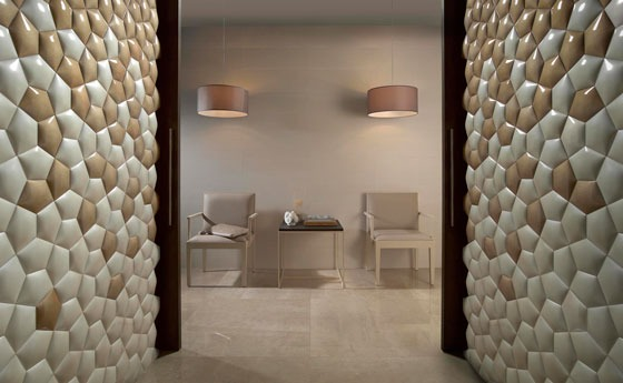 KIN is a ceramic wall covering designed by DSIGNIO