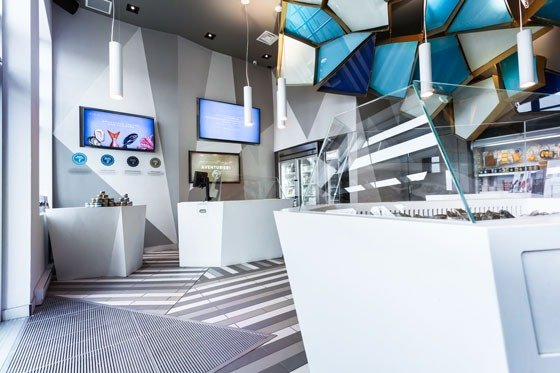 POISSONNERIE NEMEAU Interior design by Jean de Lessard