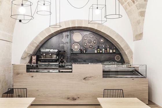 architectural Studio Manca interior design Caffe RIDOLA Matera