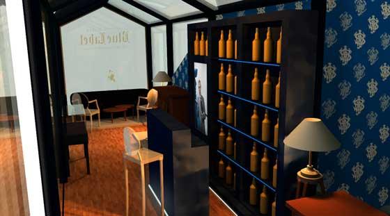 Johnnie Walker Blue Store pop-up Milano