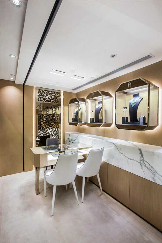 Stefano Tordiglione Design's expertise in creating the ideal space for the jewellery