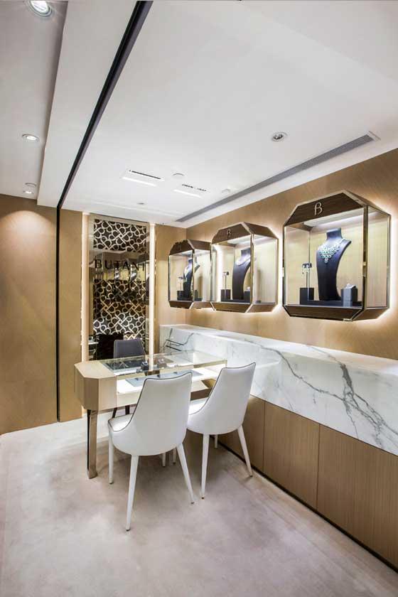 progetto dello Studio Stefano Tordiglione Design per la gioielleria Butani di Hong Kong