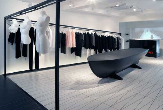 HUSSEIN CHALAYAN Flagship Store progetto ZCD Architects