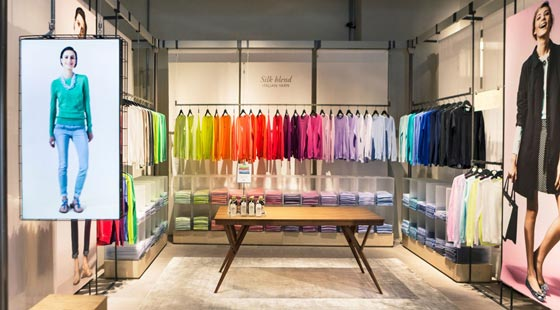 Benetton concept store on canvas dubai