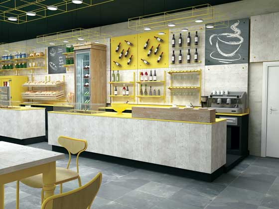 BRUGNOTTO MOVING GLASS FOOD RETAIL DESIGN