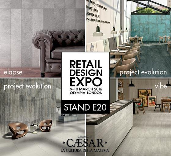 Il 9 e il 10 marzo Caesar torna protagonista della capitale inglese e presenta le collezioni in gres porcellanato al Retail Design Expo