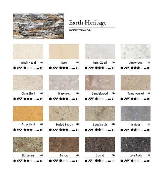 DuPont™ Corian® collezione colori Earth Heritage