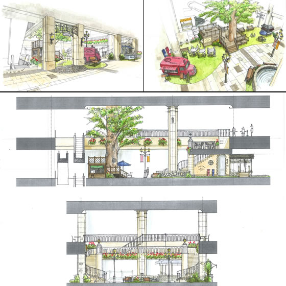 Garde designed JOYYARD, the commercial space of the 5th and 6th floor inside the shopping center Joy City Chaoyang in Beijing, China.