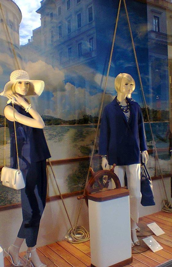 shop window vetrine luisa spagnoli milano