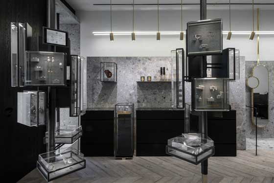Kois Associated Architects designed Ileana Makri Jewelry store in Athens