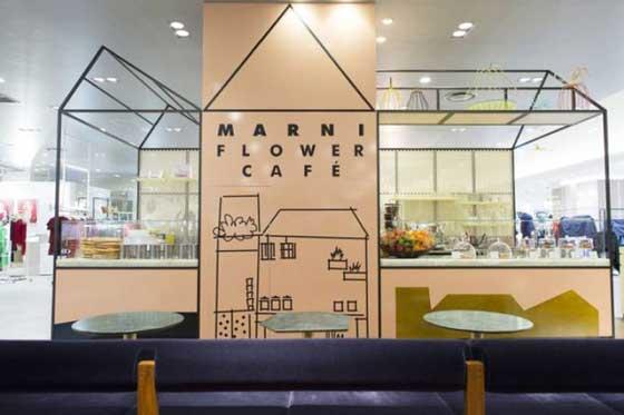 concept store Marni flower café