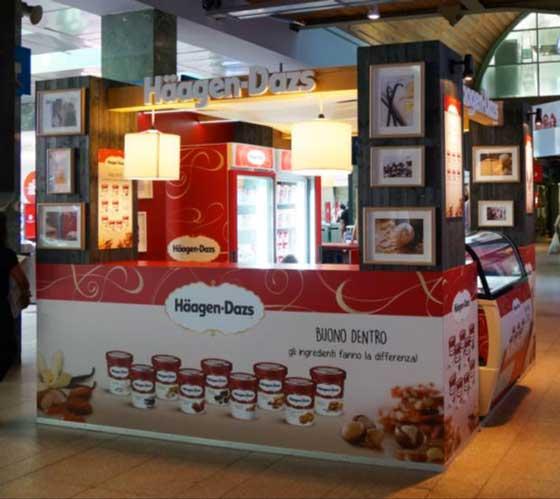 Häagen-Dazs temporary store